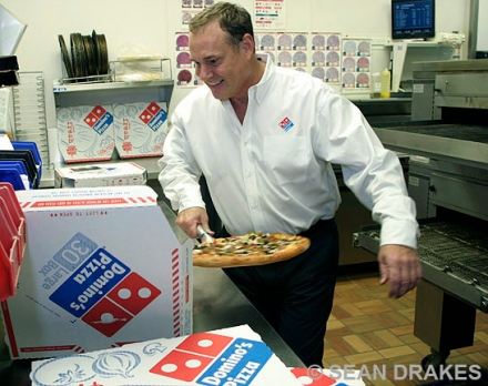Mike Orcutt, franchisee, Domino's.