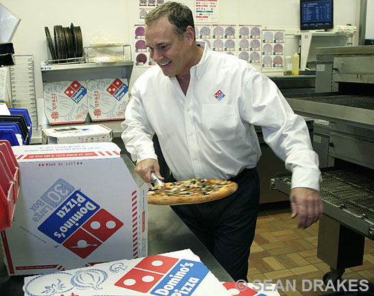 Mike Orcutt, franchisee, Domino's