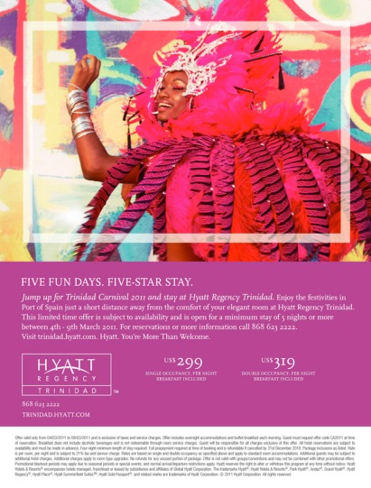 Hyatt Regency rooms promotion.