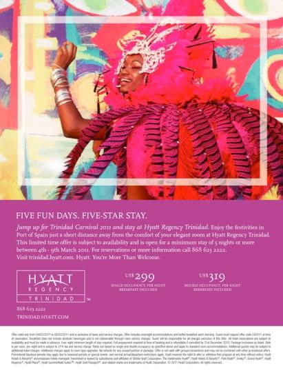 Hyatt Regency rooms promotion.