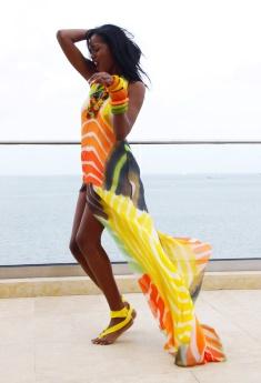 Dress: Peter Elias.