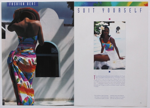 'Suit Yourself' swimwear layout.