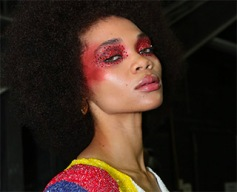Beauty Styling @ Pyer Moss during NYFW